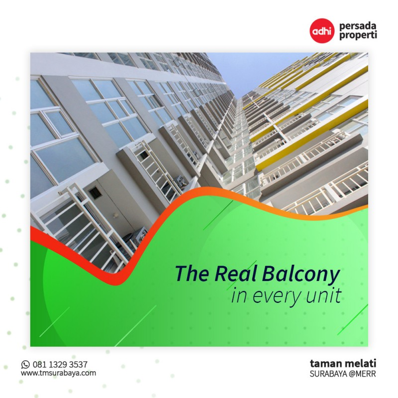 The Real Balcony In Every Unit
